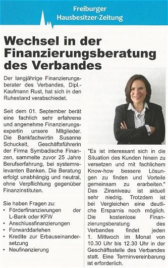 Haus und Grund Freiburg Finanzberatung